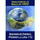 SERIE DE EVENTOS DE ENERGÍA: Sesiones de Energía iPhoenix Online: La Luna y Tú - Serie de Ciclos Lunares Febrero & Marzo (Español/Inglés)